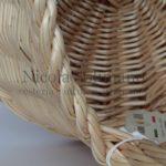 cesto tondo in salice decorticato bianco