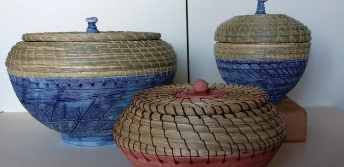 Cesteria a spirale su ceramica – Roma