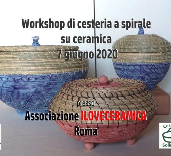 Cesteria a spirale e ceramica