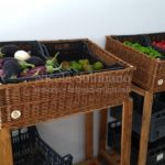 cesteria portacassette per frutterie